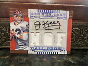 National Treasures Hof 2002 All Pros Prime Jersey Autograph Jim Kelly 10/25 2008