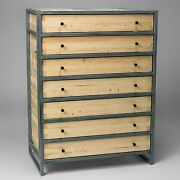 Chest Of Drawers Solid Wood Industrial Steel Contemporary Vintage