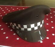 County Police Hat 5-star Midway Cap Co Brown/cream Chicago Allegheny County