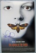 Jodie Foster Signed 11x17 Photo Dc/coa The Silence Of The Lambs Rare Autograph