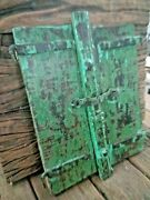 Antique Original Mughal Iron And Wooden Small Windows Collectible Rustic