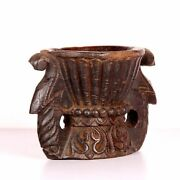 Antique Wooden Carved Seeds Sprinkle Kitchenware Decorative Collectible Farm Use