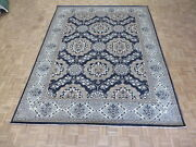 9and0392 X 11and03911 Hand Knotted Denim Blue Peshawar Oushak Oriental Rug G5604