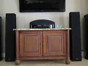 Mirage Omnipolar Stereo Surround Front Rear Speakers Om-10 Pair Home Theater