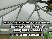 Supply And Installation To 4mx3m Polycarbonate Conservatory Roof And Sides 10y Guar