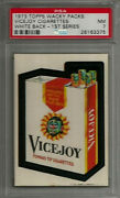 1973 Topps Wacky Packages Vicejoy Cigarettes 1st Series White Back Psa 7 Nm Card