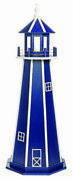 Amish Crafted Poly Outdoor Garden Lighthouse - Standard - Patriot Blue And White