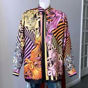 Gianni Versace Silk Shirt Neobarocco Print Size It 50 From Ss 1992