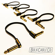Ebs Flat Patch Cable - 5 Pack - 7 - Pg-18 Premium Gold - Fx Pedal - Set Of Five