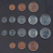 Norway Full Coin Set 1+2+5+10+25+50 Ore +1+5 Kroner 1964-1973 Unc Lot Of 8 Coins