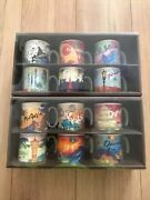 Starbucks Area Collectible Demi Mug Cup Set East West Japan Limited 12 Set New
