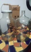 Rare And Vintage Owens-illinois 3 Gallon Glass Wide Mouth Pickle Jars And Jugs