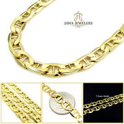 10k Yellow Gold 7.5mm Mens Womens Mariner Heavy Chain Necklace 20 - 28 Inch