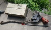 Wheeler Rex 6629 Ratcheting Hydraulic Chain Pipe Cutter Soil Cast Clay Asbestos