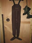 Simms Neoprene Form Foot Chest Waders Fly Fishing Women's Xs Made In Usa