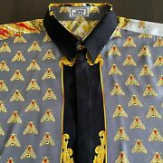 Gianni Versace Silk Shirt Napoleon I On The Imperial Throne Size It 52 From 1995