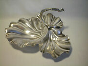 Vintage Hallmarked William Hutton And Sons Leaf Grape Dish Tray Bowl Silverplate