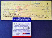 Harry Hooper Beautiful Signed Vintage '68 Auto Check Psa/dna Certified Autograph
