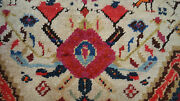 Antique Unique Kazak Oriental Rug Hand Knotted Carpet 4and039 8 X 3and039 104and039x5and039