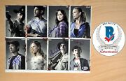 Walking Dead Cast Signed X7 Photo Lincoln Callies Yeun Holden Riggs Proof And Coa