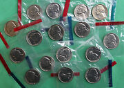 1980 - 1989 Bu Jefferson Nickels 16 P And D Coins Us Mint Sets Cello Lot No 82or83