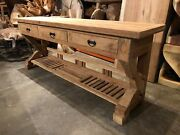 Reclaimed Teakwood With Antique Arch Hallway Table Dining Living Room