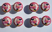 8 Cute Minnie Mouse Polka Dot Daisies Dresser Drawer Knobs Kids Made As Ordered