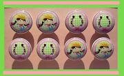 8 Western Cow Girl Horseshoe Pink Kids Dresser Drawer Knobs Made As Ordered