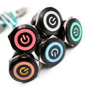 Waterproof 25mm Metal Switch Button Ring Light Led Self-recover Self-locking Diy