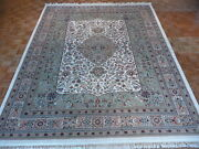 9and0394 X 11and03910 Hand Knotted Ivory Fine Persian Tabrez Oriental Rug G320