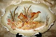 Victorian Limoges 1800's Game/fowl Platter, Plates And Gravy Set Of 10 Pieces