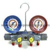 Yellow Jacket 46030 Manifold Only R/b Gauges Psi R-134a/404a/407c
