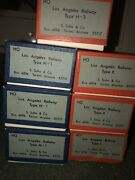 7 Vintage Vintage Ho Brass Los Angeles Railway Trolley S. Soho And Co. Mint Nos