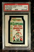 1974 Topps Wacky Packages Slopicana Juice 7th Series Psa 9 Mint Non-sport Card