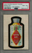 1973 Topps Wacky Packages Spray Nit 1st Series Tan Back Psa 8 Nm-mt Card