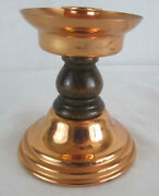 Vintage Copper Candle Holder Coppercraft Guild Wood Taunton Ma 4.5 Tall