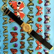 Gianni Versace Signature Medusa Gold Plated G20 Womenand039s Watch W/ Box From 1993