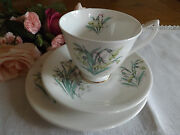 Vintage 50s Royal Albert Flowers Of The Month Snowdrop January Trio 1st