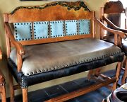 Mesquite Turquoise Pool Table Spectator Bench