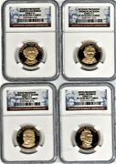 2008-s --s Presidential Dollars Set 4 Coins Ngc Proof 70 Ultra Cameo
