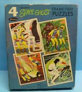 Vintage Whitman 1967 Space Ghost Box Of 4 Frame Tray Puzzles