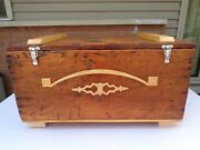 Rustic Vintage Chest Trunk Coffee Table Wood Furniture Storage Box Bench Decor