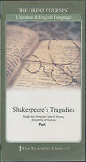 The Great Courses Shakespeare's Tragedies Dvd Set Literature 9781598033083