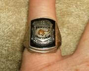 1930-40and039s Pontiac Service Craftsman Sterling 15 Year Award Ring