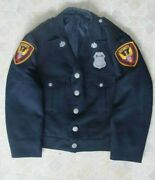 Org Piper Cub Security Guard Jacket And Shirt- Lock Haven Pa- Badge- Patch- Pin