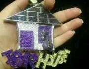 Hiphop Style Diamond Studded Luckytrar House Pendant Solid 925 Sterling Silver