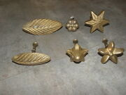 Vintage French Mold Mould Chocolate Flower Cookie Biscuit Sugarcraft Old Bronz