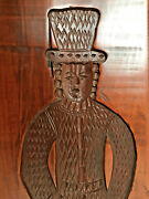 Antique Vintage Springerle Cookie Board Mold. Country Gentleman.  25 1/2 Tall