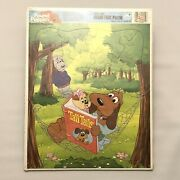 Pound Puppies 1987 Golden Extra Thick Frame Tray Puzzle - Sealed