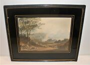Antique Lithograph By A. Ackermann And Sons Cir. 1840's Leeds Castle Kent England